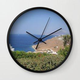 Myconos Island, Greece Wall Clock