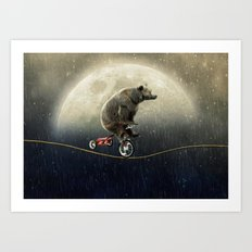 balancing act (under the weather) Art Print