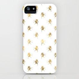 Gold Unicorn Pattern iPhone Case