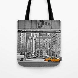 NYC - Yellow Cabs - Fish Market Tote Bag