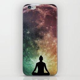 Full Moon Yoga iPhone Skin