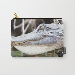 Watercolor Alligator 01, Okefenokee Swamp, Geogia, Swamp Relic Carry-All Pouch