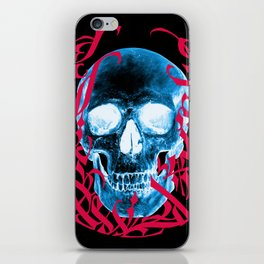 Gothic Calligraphy on Skull saying Always Hungry iPhone Skin