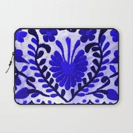 Beautiful Midnight Blue Mexican Flower Laptop Sleeve