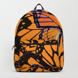 ORANGE MONARCH BUTTERFLY ABSTRACT PATTERN Backpack