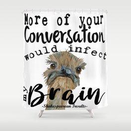 Infectious Conversation Shower Curtain