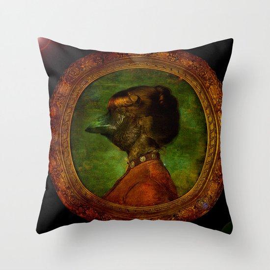 Miss Crow Throw Pillow