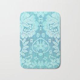 Blue Lace Bath Mat