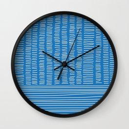 Digital Stitches detail 1 blue Wall Clock