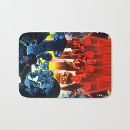 Space Alien Bar Band Bath Mat