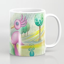 2 cute pink birds in a tree Coffee Mug