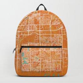 Gilbert, AZ, USA, Gold, Blue, City, Map Backpack