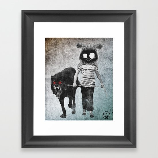 out for a walk Framed Art Print