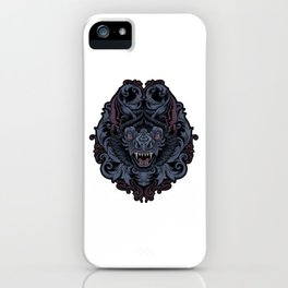 Bat With Javanese Ornament iPhone Case