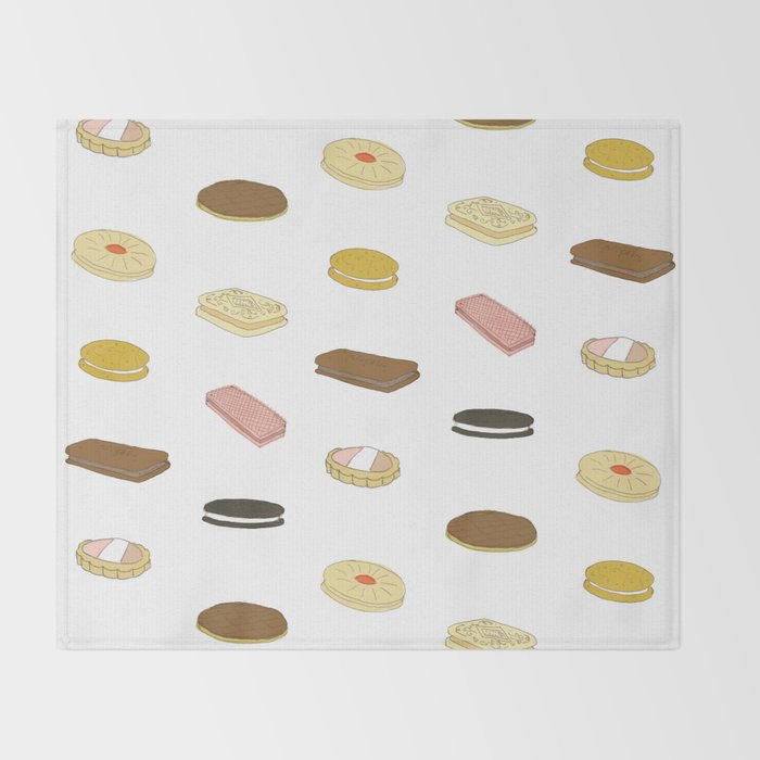 biscui - biscuit pattern Throw Blanket