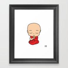 LITTLE MONK Framed Art Print