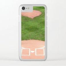 Baseball field /Baseballfeld Clear iPhone Case