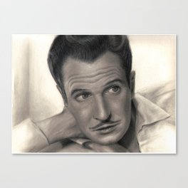 Young Vincent Price Canvas Print