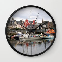 Fishing Boats Wall Clock