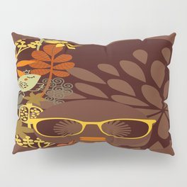 Afro Diva : Sophisticated Lady Retro Brown Pillow Sham