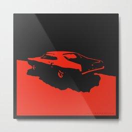 Mercury Marauder, Red on Black Metal Print