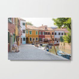 Sunday Morning on Murano Island, Venice, Italy Metal Print