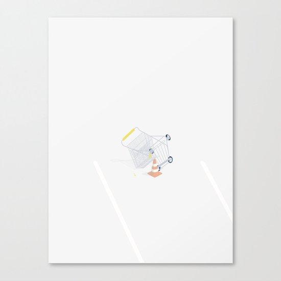 GÅ PÅ INDKØB Canvas Print
