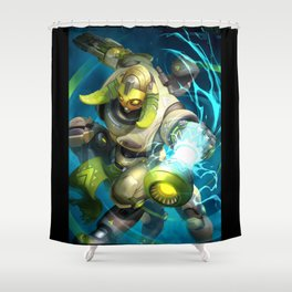 over orisa watch Shower Curtain