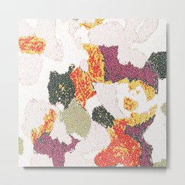 Abstract floral camouflage Metal Print
