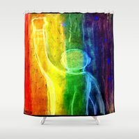 queer Shower Curtains featuring This Queer Life by Dandy Jon