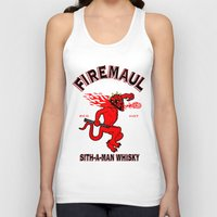 whisky Tank Tops featuring Firemaul Whisky by Ant Atomic