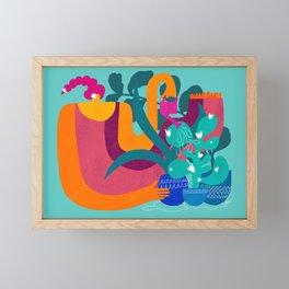 not overwating is hard Framed Mini Art Print