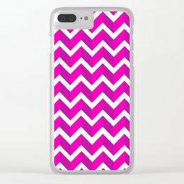 ERIN ((hot pink)) Clear iPhone Case