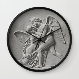 LAmour et Psyche de Gibson (1859) by James Anderson Wall Clock