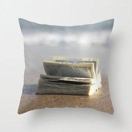 Book on the Beach Throw Pillow