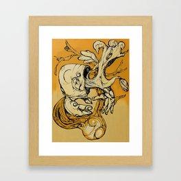 Wood Vomit.. Framed Art Print