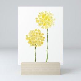 two abstract dandelions watercolor Mini Art Print