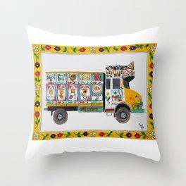 Bangla Truck  Throw Pillow