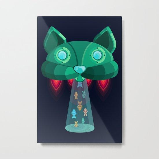 CatShip Metal Print