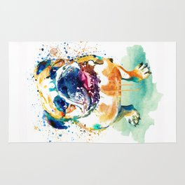 Watercolor Bulldog Rug