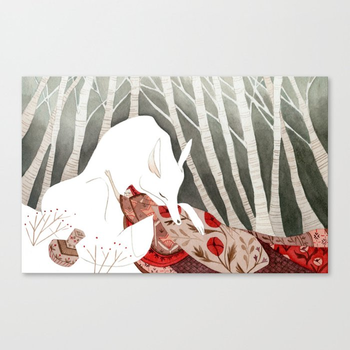 Little Red Riding Hood Canvas Print By Vanessagillings
