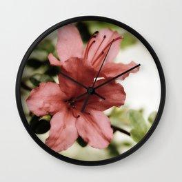 SOFT PINK FLOWER #1 - Azaleas Wall Clock