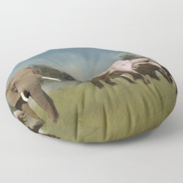 Leaving The Watering Hole Floor Pillow