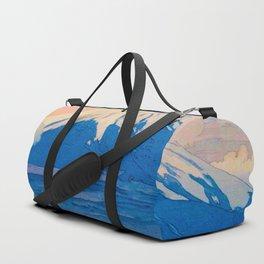 Fuji-san from Yamanaka Vintage Beautiful Japanese Woodblock Print Hiroshi Yoshida Duffle Bag