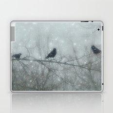 Wintry Crows Laptop & iPad Skin