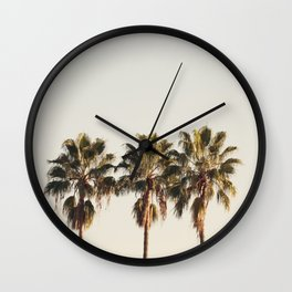 Golden Palms Wall Clock
