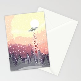Christmas UFO Stationery Cards