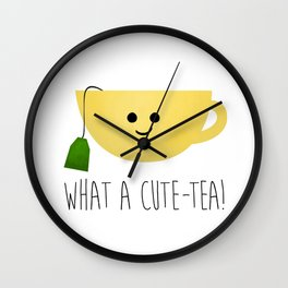 What A Cute-tea Wall Clock