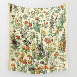Adolphe Millot Vintage Fleurs Flower 1909 Wall Tapestry