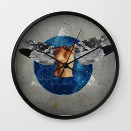 Wonder Wood Dream Mountains - The Demon Cleaner Series · When The Night Comes Down Wall Clock